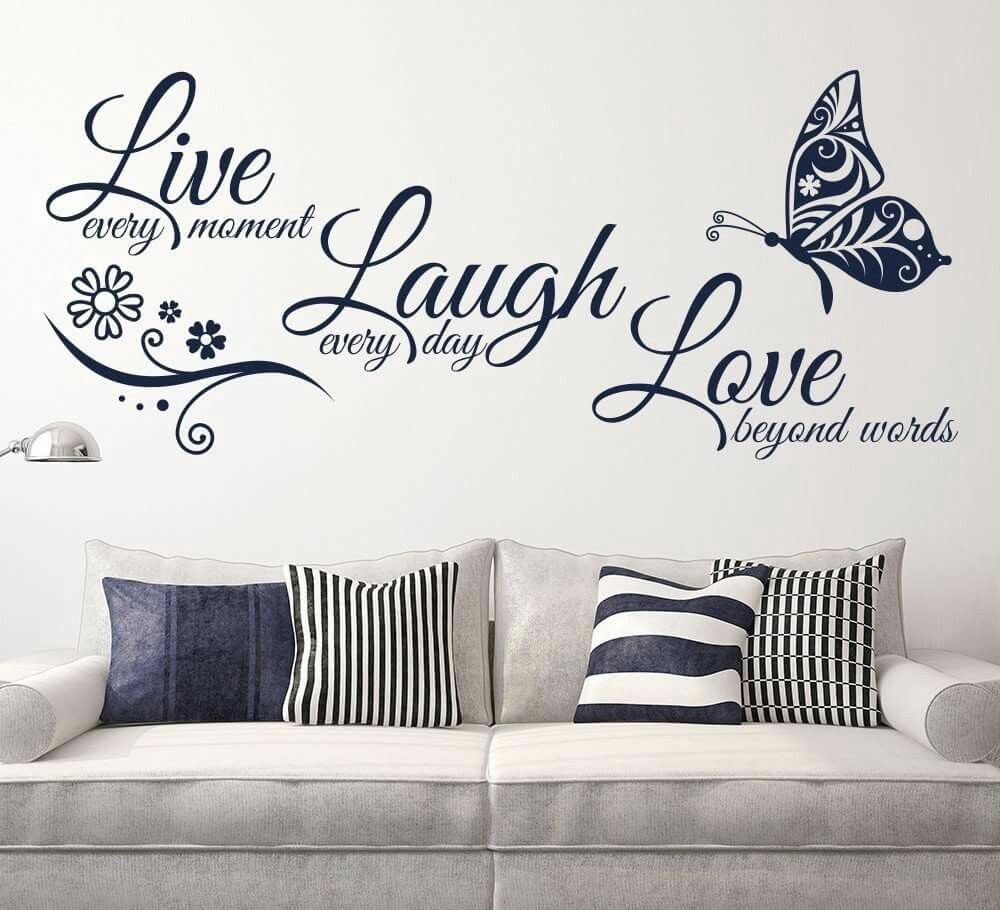 Decal wall sticker - Live Laugh Love