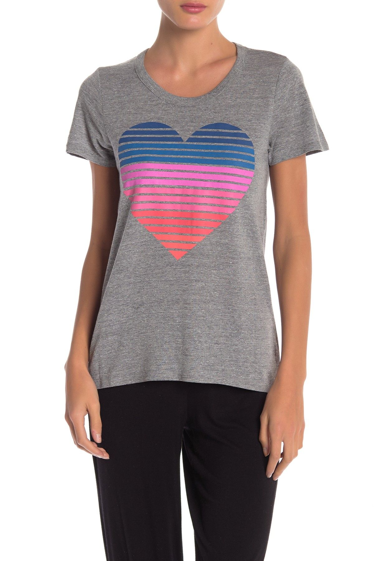 1a9f2c210 Chaser - Striped Heart Graphic Open Back Tee. Free Shipping on orders over  $100.