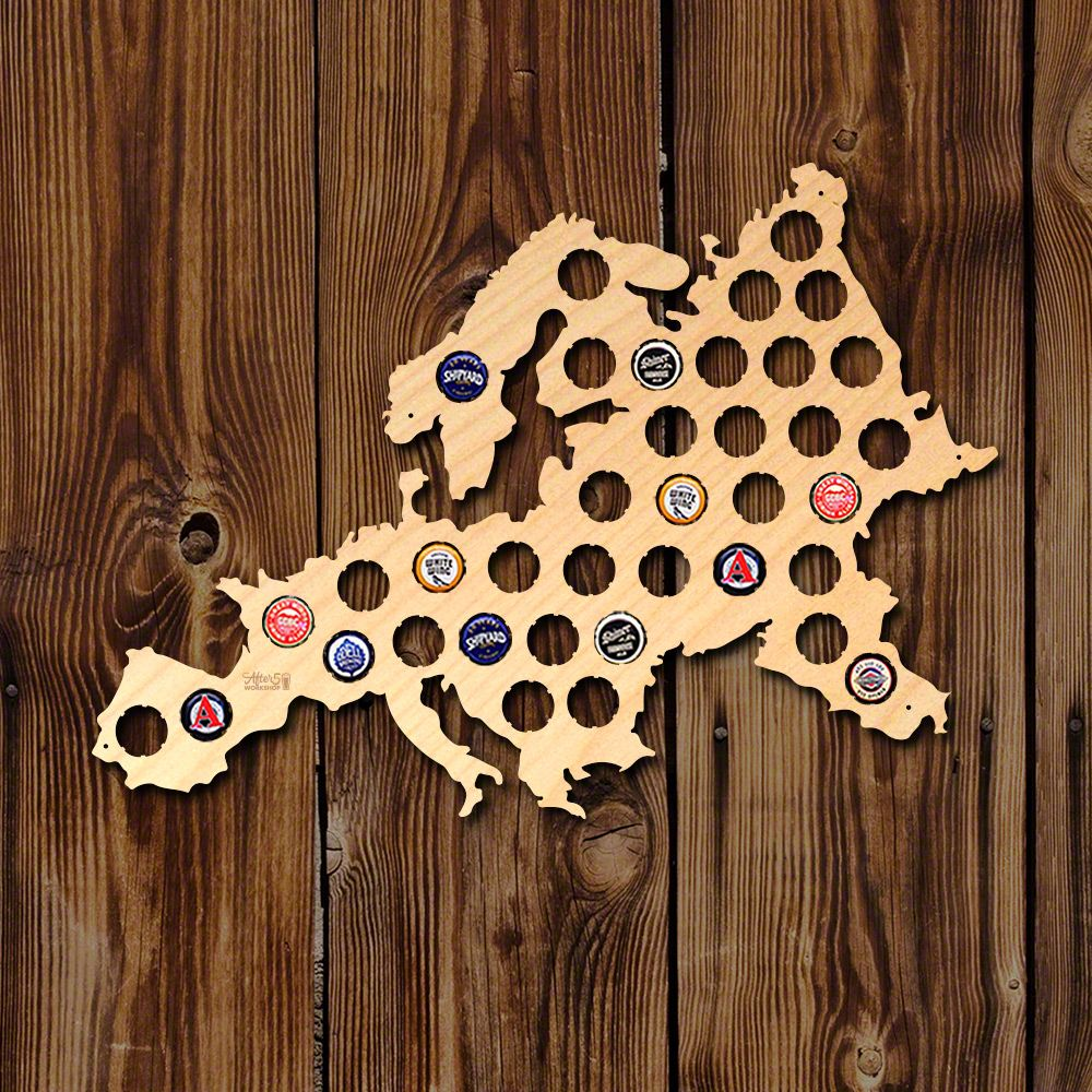 Europe Beer Cap Map Pinterest Beer Caps Map Crafts And Birch - Germany beer cap map