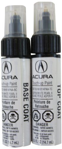 Genuine Acura Accessories NhPAAP Aspen White Pearl II - Acura touch up paint