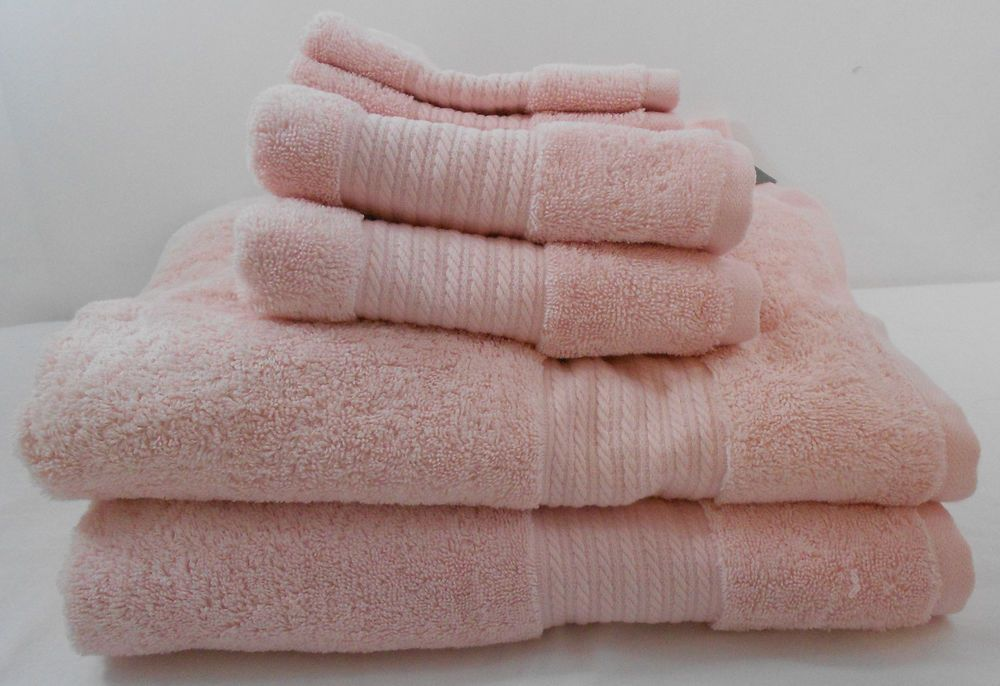 Ralph Lauren Greenwich 6 Piece Bath Towel Set Seashell Pink