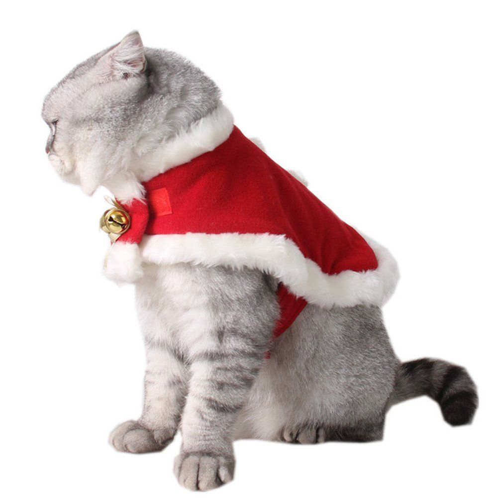 Kmmall Pet Costume Christmas Pet Clothes Dog Party Clothing Cat Cape To View Further For This It Cat Christmas Costumes Dog Christmas Clothes Christmas Cats
