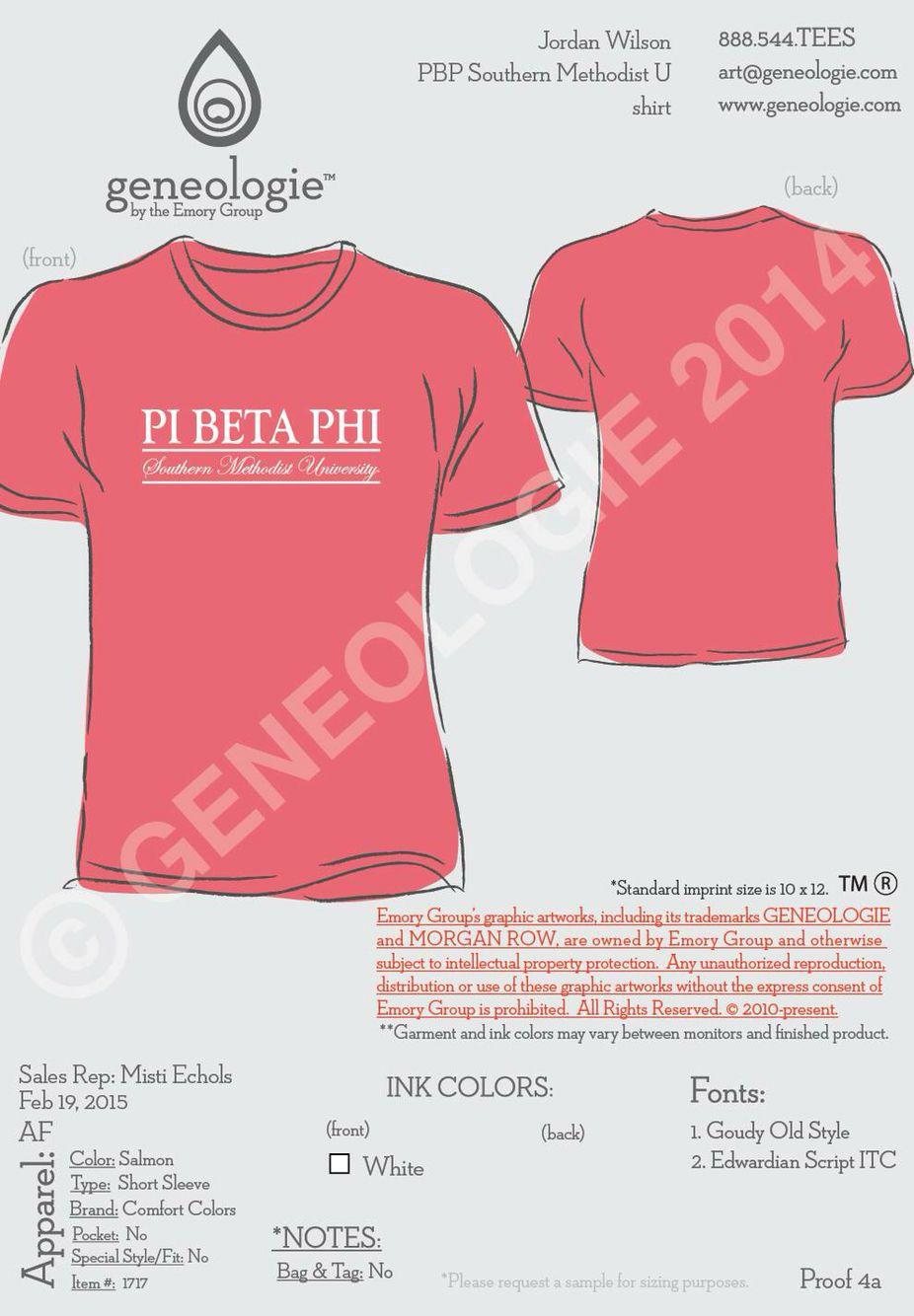 Shirt design envelope - Smu Pi Beta Phi T Shirt Design By Geneologie Smu Piphi