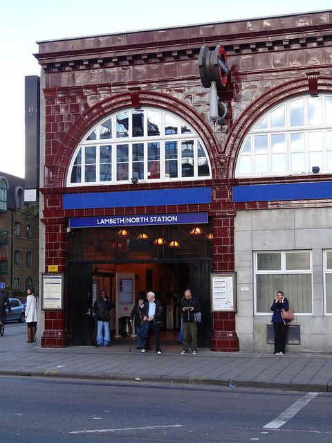 Lambeth North Station by http://randomlylondon.com (Start and end of LW 18)