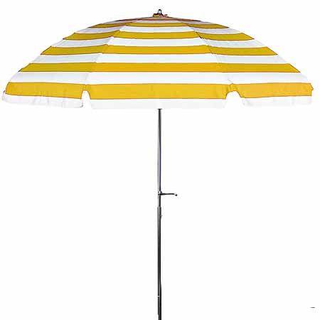 7.5u0027 Sunbrella Yellow U0026 White Striped Patio Umbrella $174