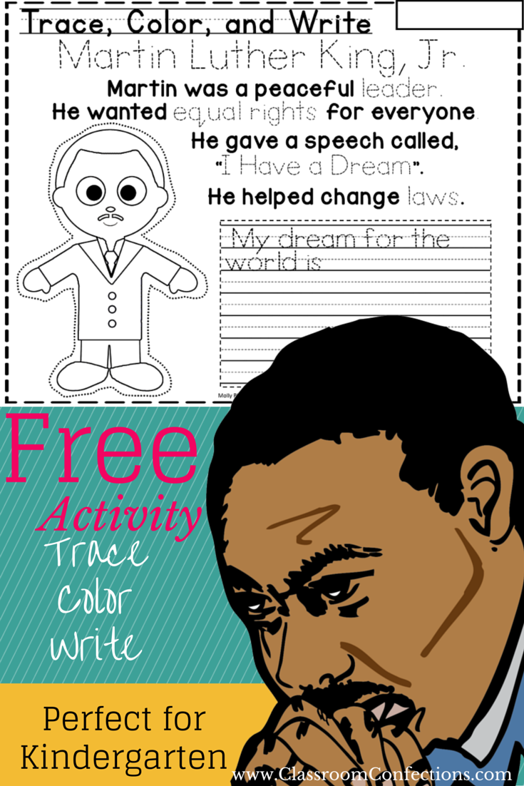 Martin Luther King, Jr. Activity for Kindergarten | Kinder new year ...