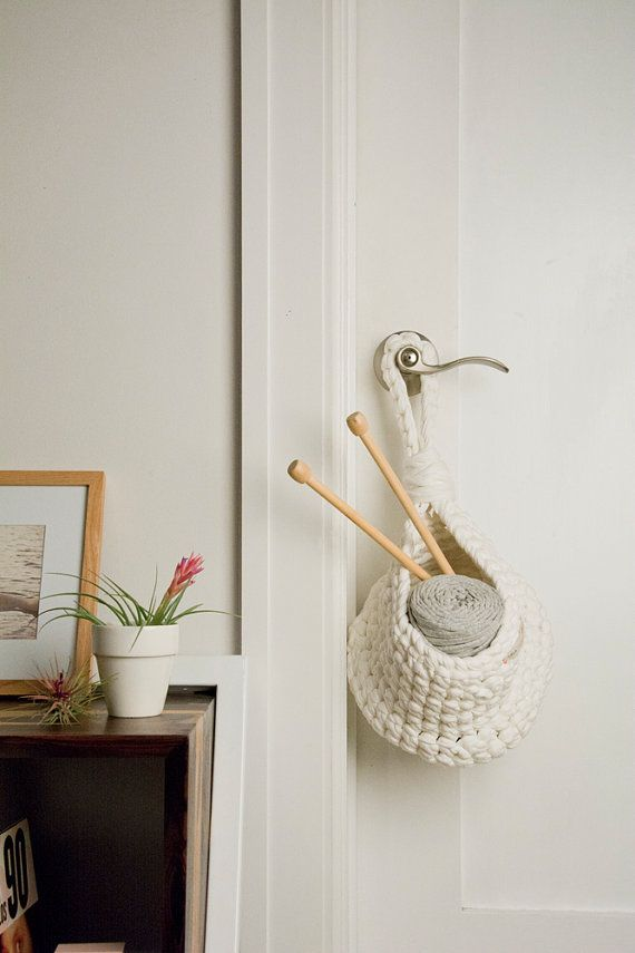 Hang a handy baskets anywhere clutter (or in-progress crafts) tend ...