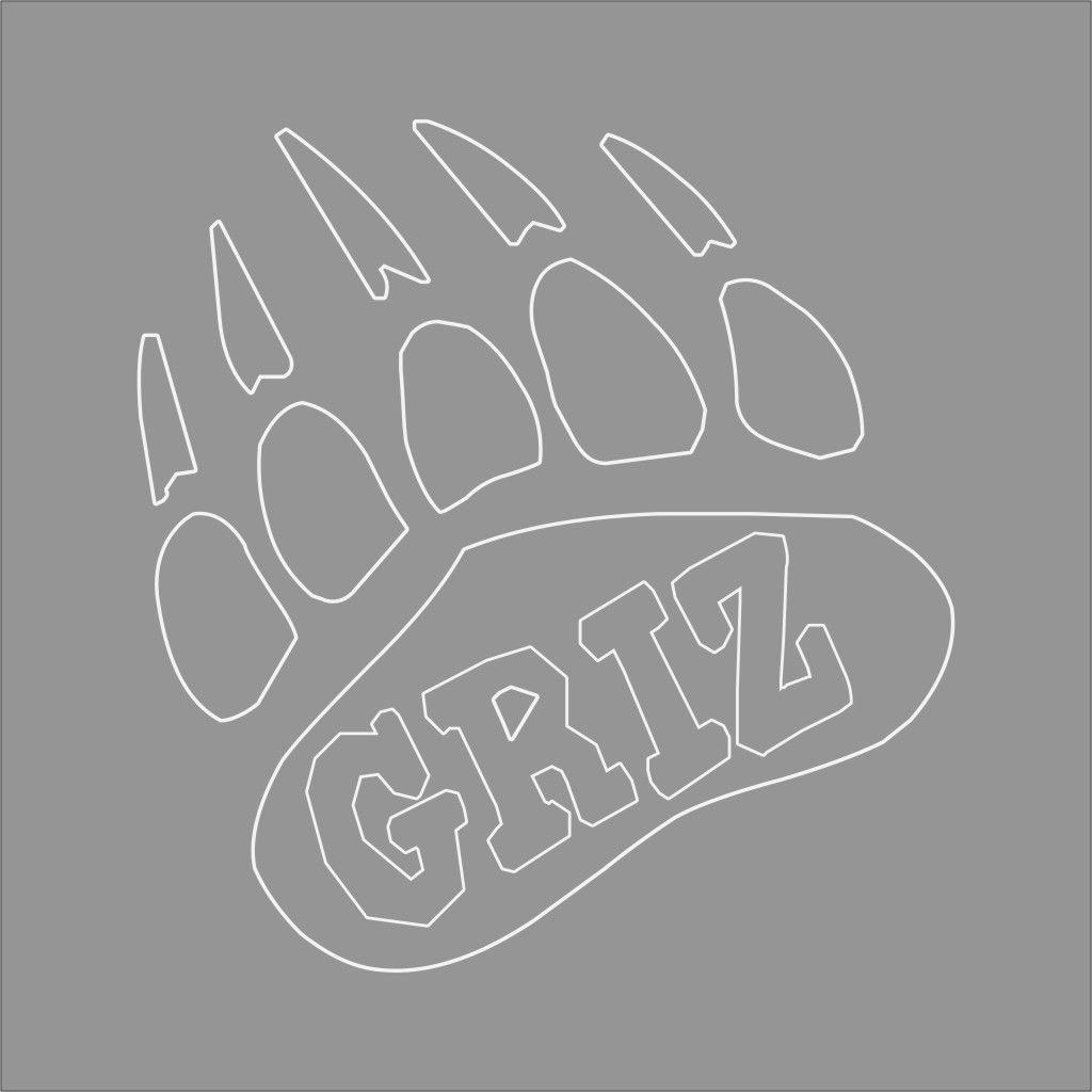 Montana Grizzlies College Logo 1c Vinyl Decal Sticker Car Window Wall Vinyl Decals Vinyl Decal Stickers College Logo