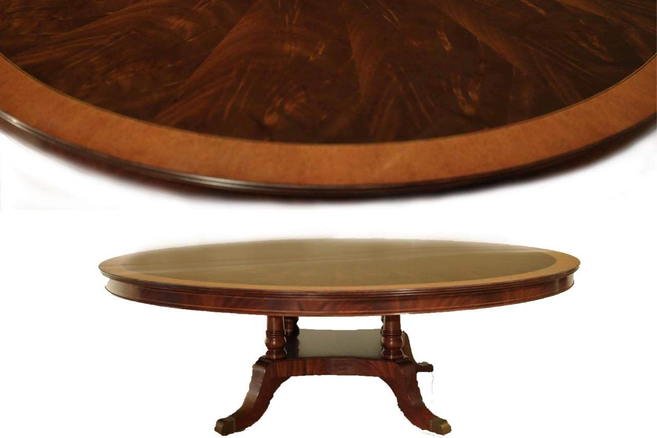 Large 84 Inch Round Mahogany Dining Table Click On The Image For Additional Details Affiliate L Mahogany Dining Table Dining Table Glass Round Dining Table