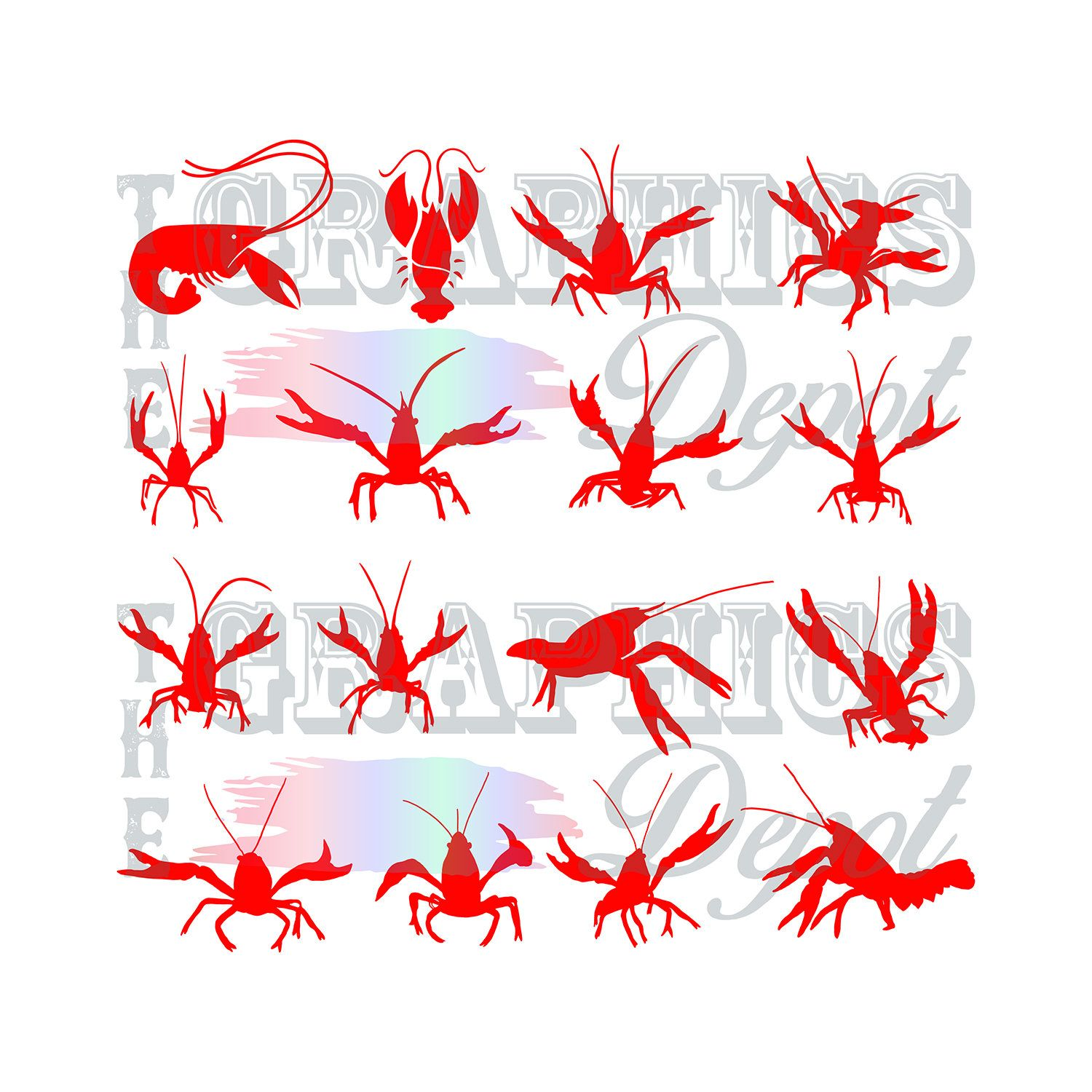 Ultimate Crawfish Bundle svg, eps, jpg, png files