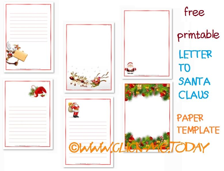 letter to santa template free printable letter to santa claus paper template 1449