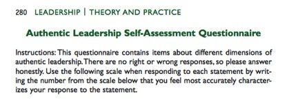 Take The Authentic Leadership SelfAssessment Questionaire