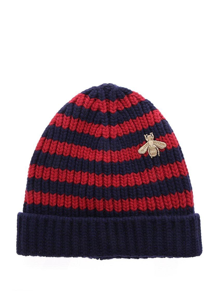 7104b1a58d07d GUCCI Bee appliqué ribbed cap.  gucci   Gucci Fashion