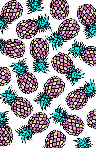 Pineapples art print by y coh society6 wallpapers for Print ecran