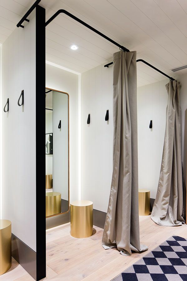 Retail store seed has new monochromatic design indesign for Boutique room design
