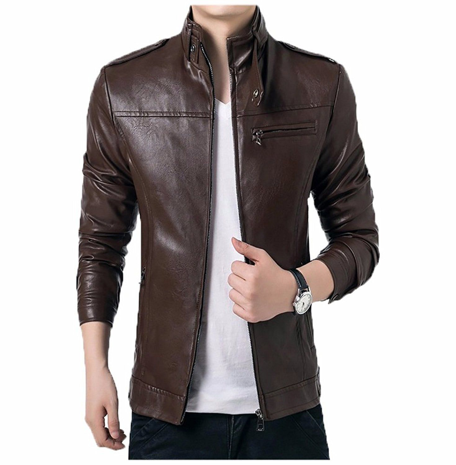 Gordania Bomber Series Menus Slim Fit Zipper Design Jacket Jackets