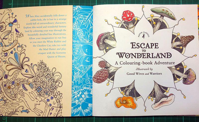 Coloring Books Escape To Wonderland Book Review And Coloured Pictures La Artistino Peta
