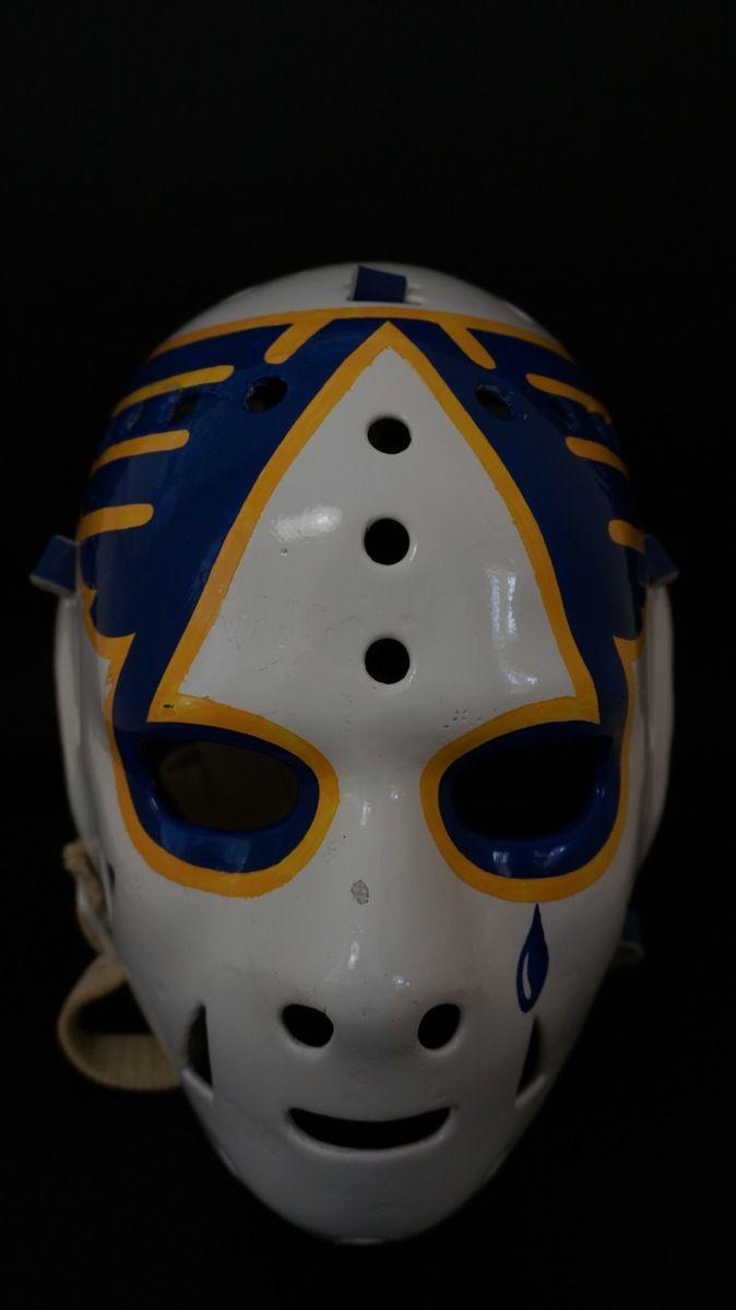 Ed Staniowski Game Used Mask St Louis Blues Goalie Mask St Louis Blues Hockey St Louis Hockey