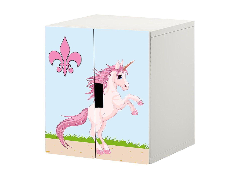 unicorn m rchenwelt m belfolie aufkleber stk14 passend f r die kinderzimmer kommode. Black Bedroom Furniture Sets. Home Design Ideas