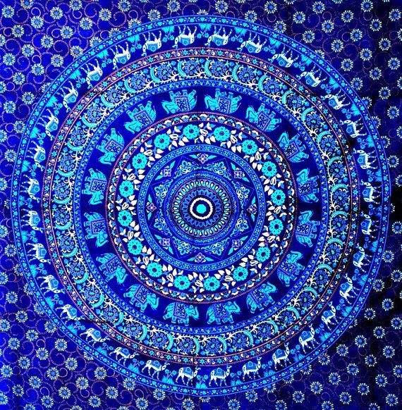 Mandala tapestry tapestries indian tapestry by for Space themed tapestry