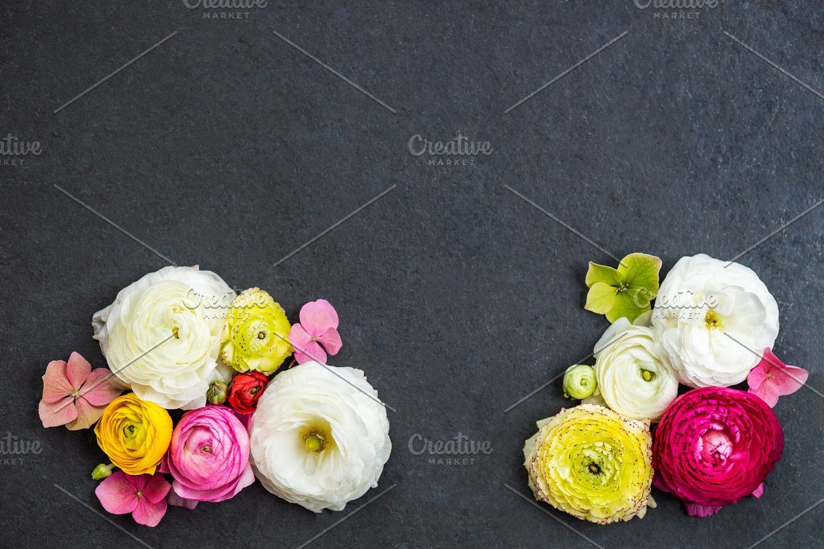Ranunculus Buttercup Flowers Of Different Colours In 2020 Buttercup Flower Flowers Ranunculus