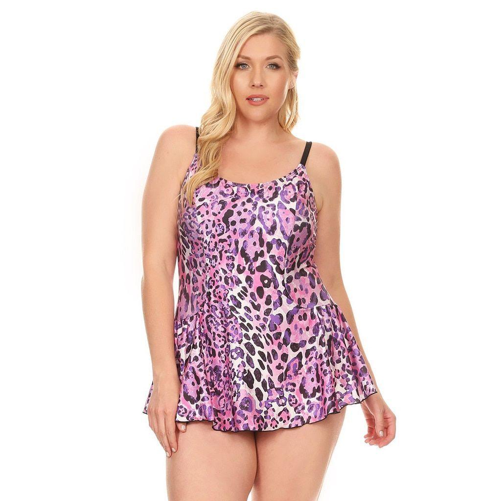 8ea4f176ba64e Dippin  Daisy s Purple Jaguar Women s Plus Size Women s One Piece Swimdress  ...