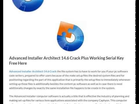 Advanced Installer Architect 14 6 Plus Working Serial Key