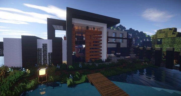 modern island house minecraft download