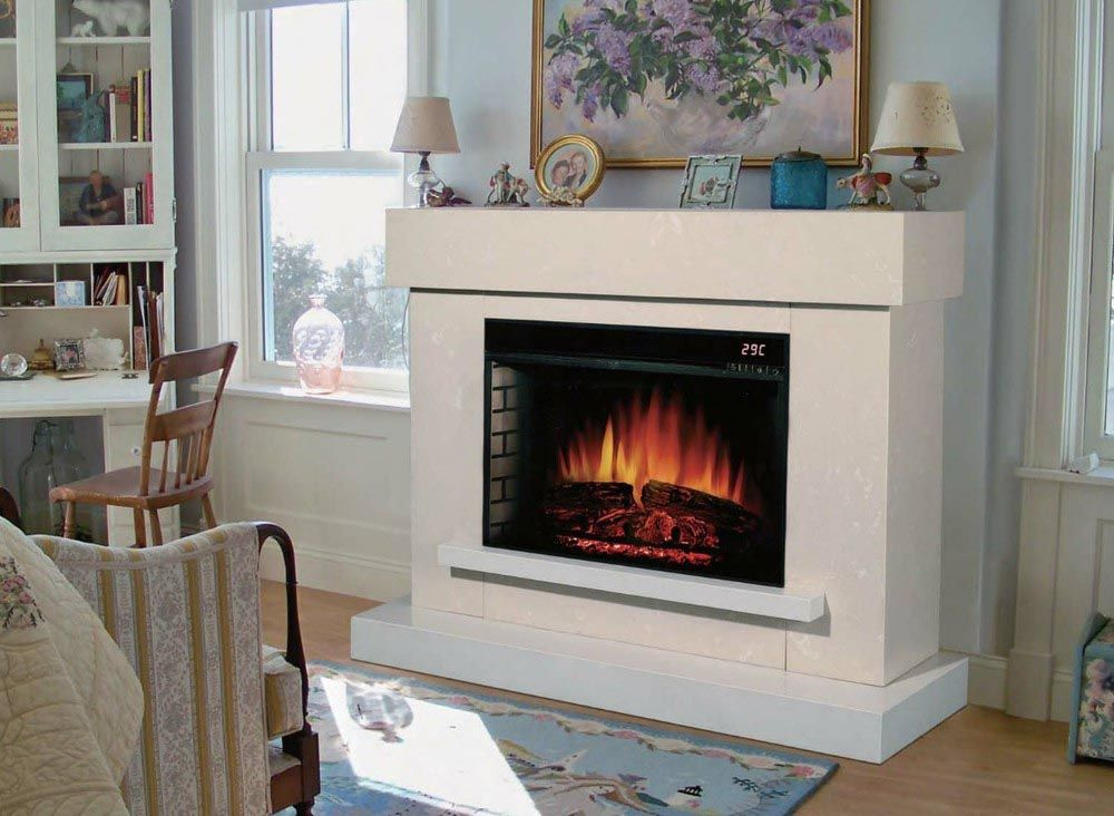 Indoor Electric Fireplace Heater White Electric Fireplace