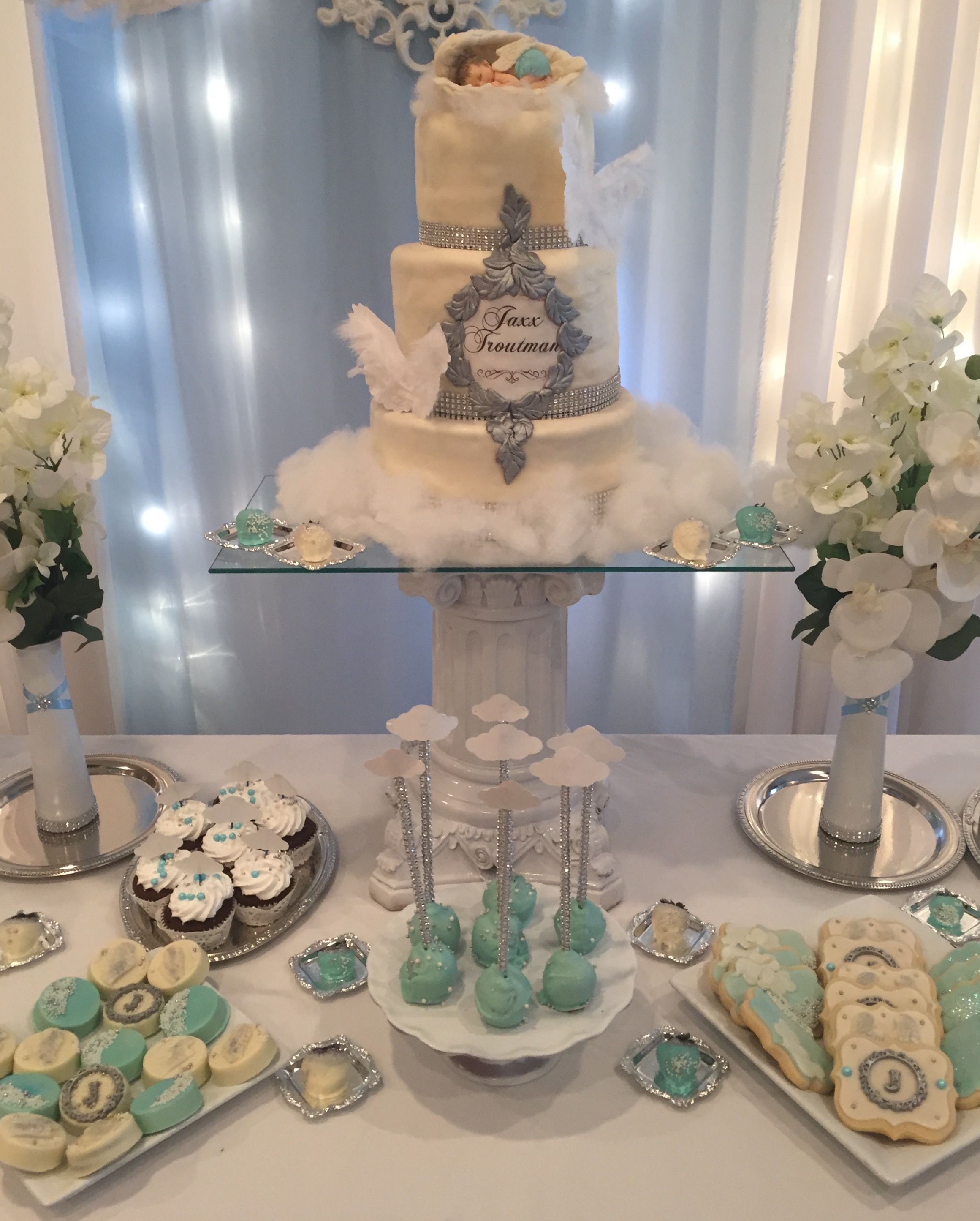 Baby Shower Themes For Boy: Heaven Sent Party By @sweetiesgoldenart