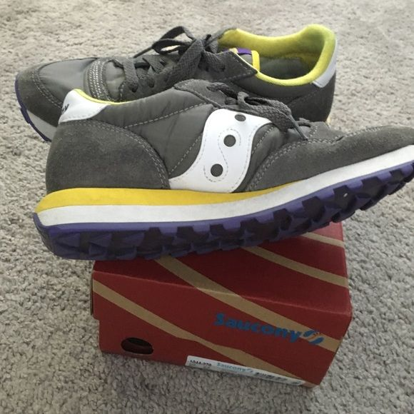 Women's clothing Saucony - Jazz Original gray/ yellow tennis shoe Saucony Shoes Athletic Shoes