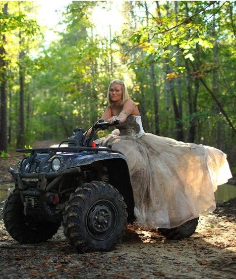 Wedding Dress + ATV + Mud = Trio Of AWESOME!