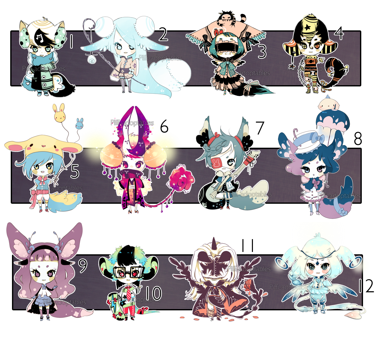[CLOSED] ADOPT 24 Multiple adopt by Piffiadoptables on