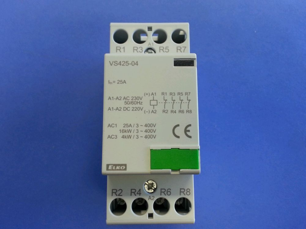 Elko modular contactor vs425 04 25amp 4 normally closed contacts elko modular contactor vs425 04 25amp 4 normally closed contacts 230v coil asfbconference2016 Image collections