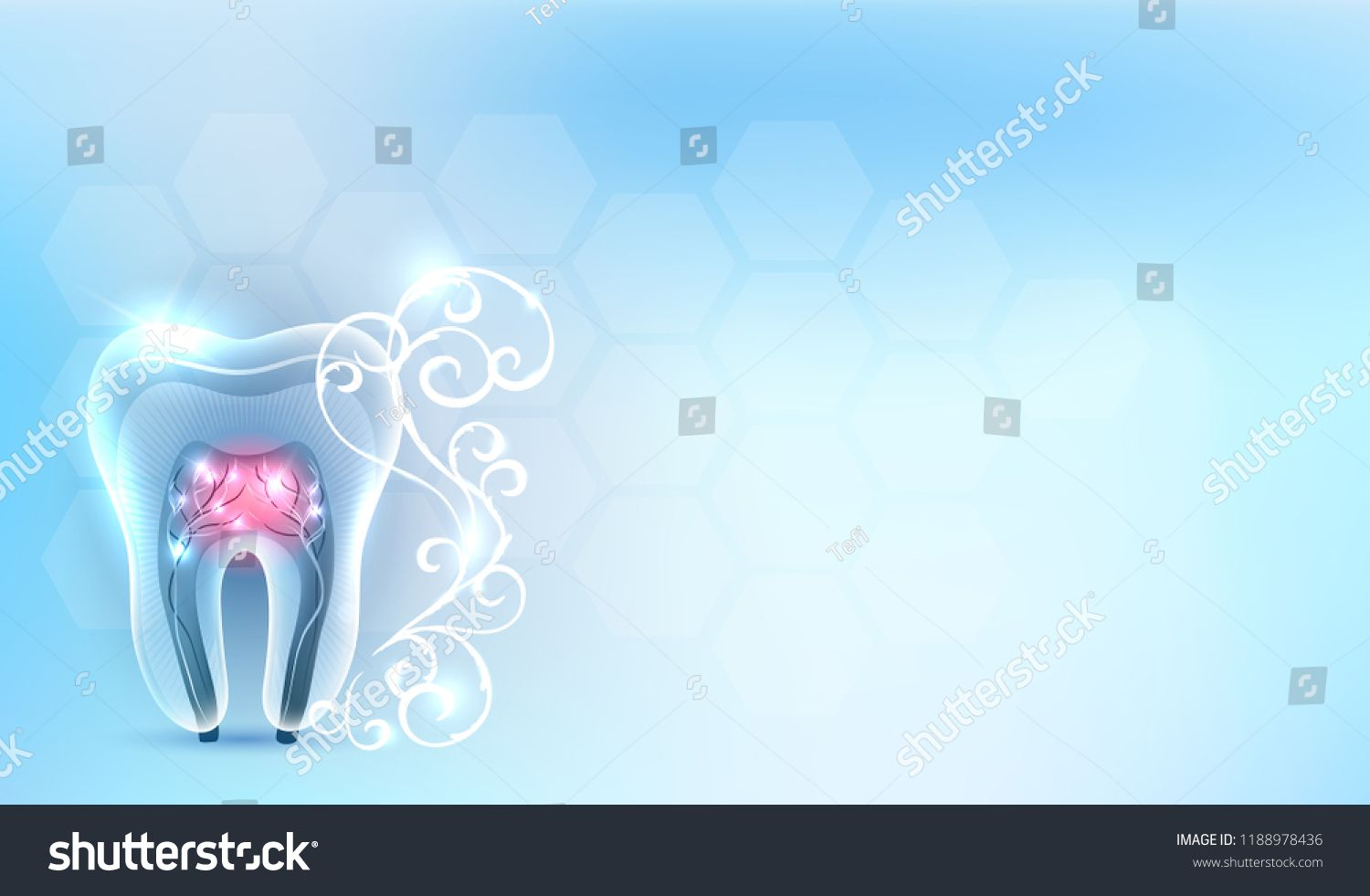 Beautiful Dental Wallpaper Tooth Teeth Symbol Icon With Roots White Abstract Swirly Flower On A Delicate Clean Dental Wallpaper Teeth Anatomy Dental Treatment