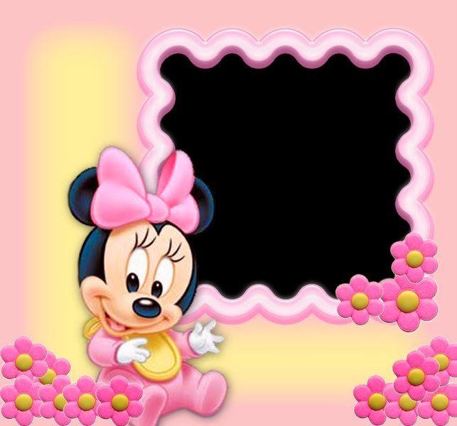 Invitaciones O Marcos Para Fotos De Los Bebés Disney Para