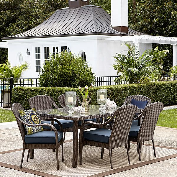 071053476000 Grand Resort Summerfield 7 Pc Dining Set Denim Limit