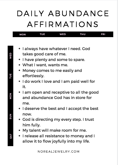 10 Affirmations That Helped Me Overcome My Lack Mindset Manifest Abundance No Real Jewelry Positive Self Affirmations Self Love Affirmations Positive Affirmations Quotes