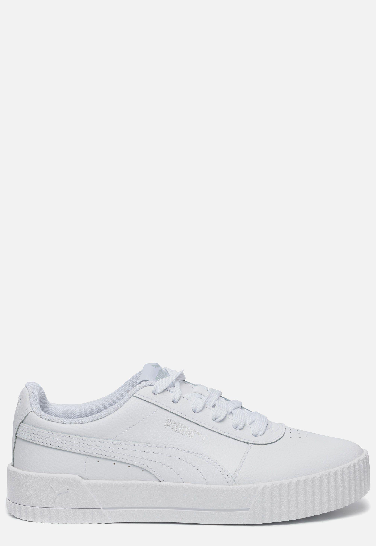 Witte PUMA Carina sneakers gemaakt van suède, met een ...