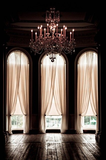 Gorgeous Window Treatments Love The Way The Shears Cross With