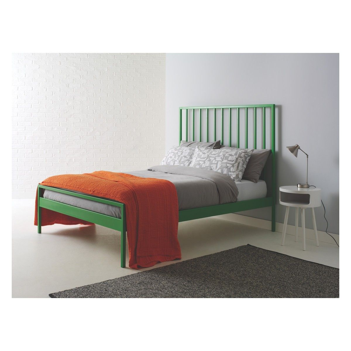 Best Lucia Green Metal Uk Double Bed 135Cm Buy Now At Habitat 400 x 300