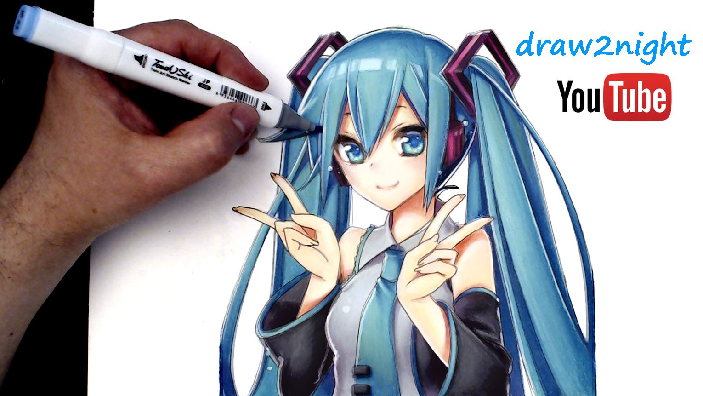 Hatsune Miku Vocaloid Anime Drawing Easy Anime Drawing Anime Drawings Hatsune Miku Anime