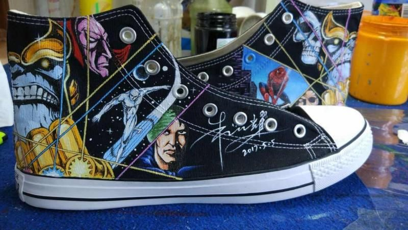 c46c0c1e61a5d1 Custom Converse Comic-Con chuck taylors new design hand painted Custom  Converse