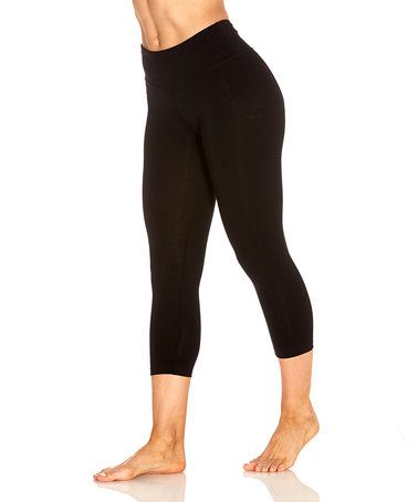 210ce3e784b This Black Carrie Butt Booster 18   Capri Leggings by Marika is perfect!   zulilyfinds