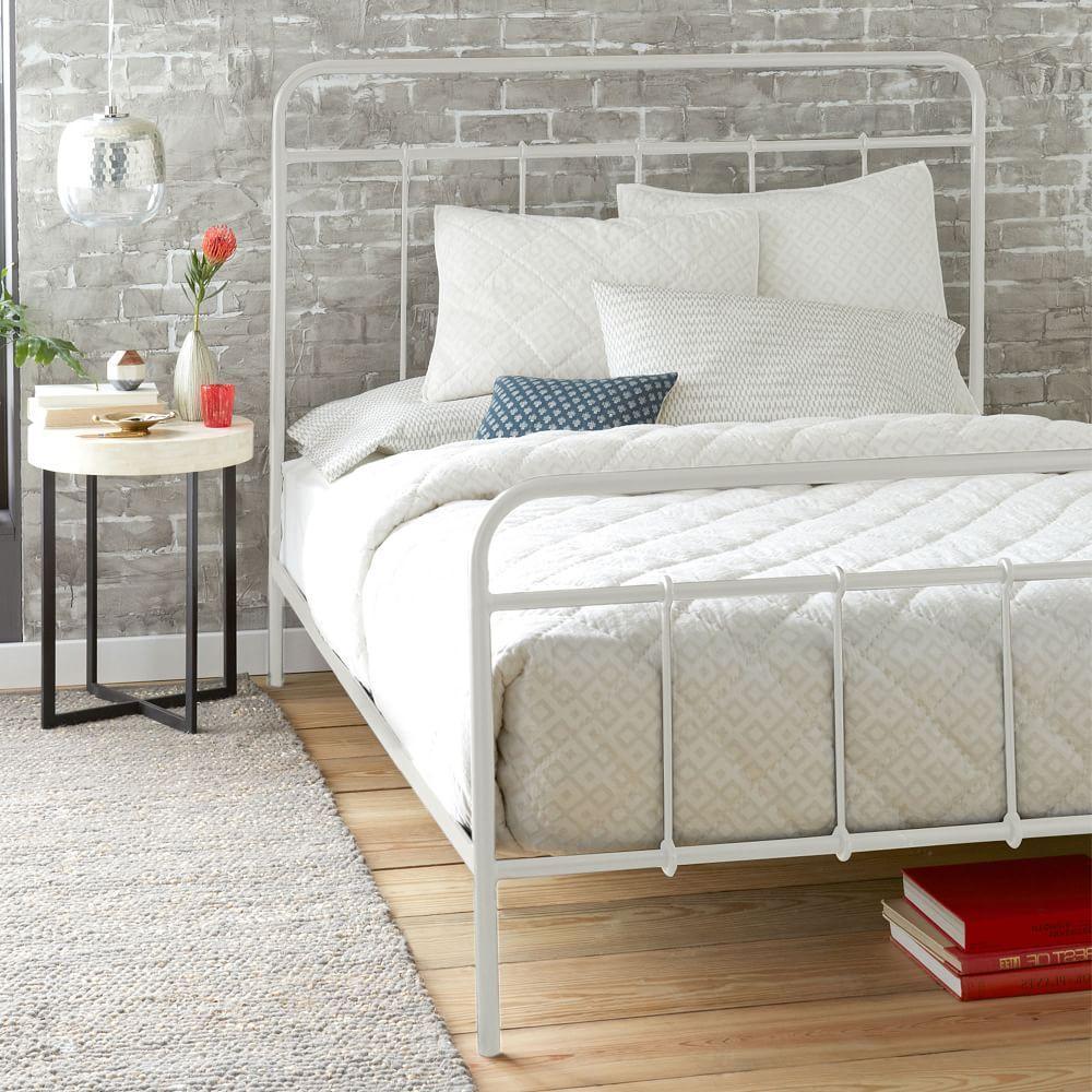 Imogene Metal Bed Antique White west elm White metal