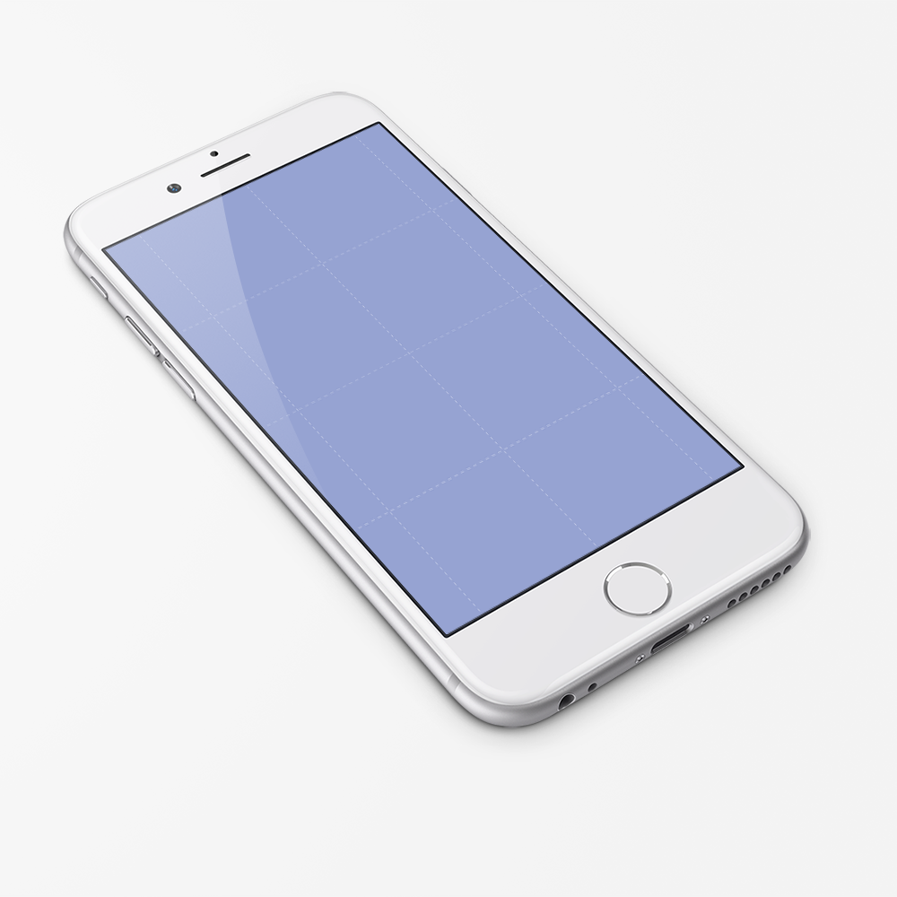 Free PSD iPhone 6 Mockup Template White Render | Education ...