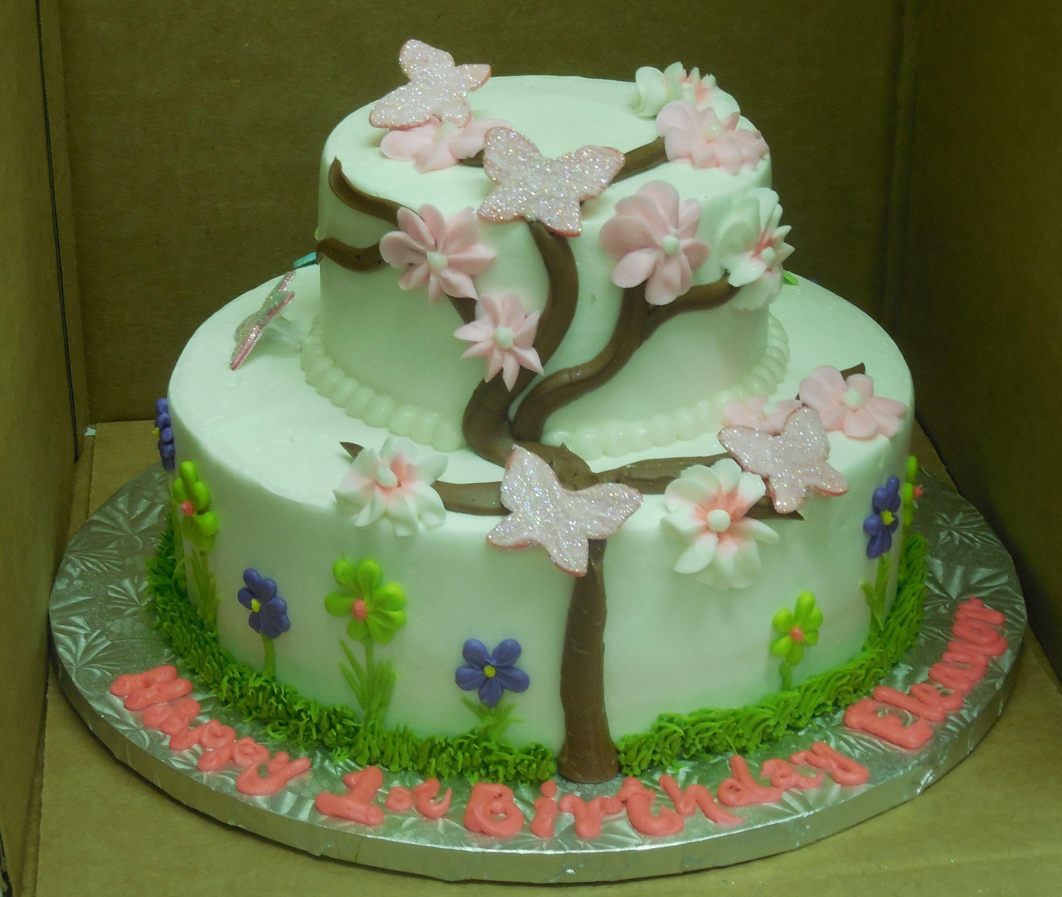 Calumet Bakery Cherry Blossom Two Tier