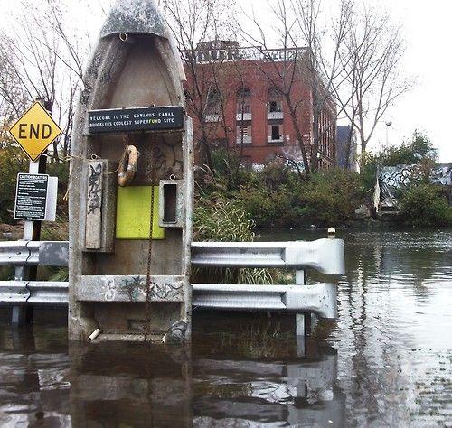bodegablue:  the Gowanus Canal so ICKY!  From an evacuated zone in Brooklyn, Gowanus, Sandy 2012…