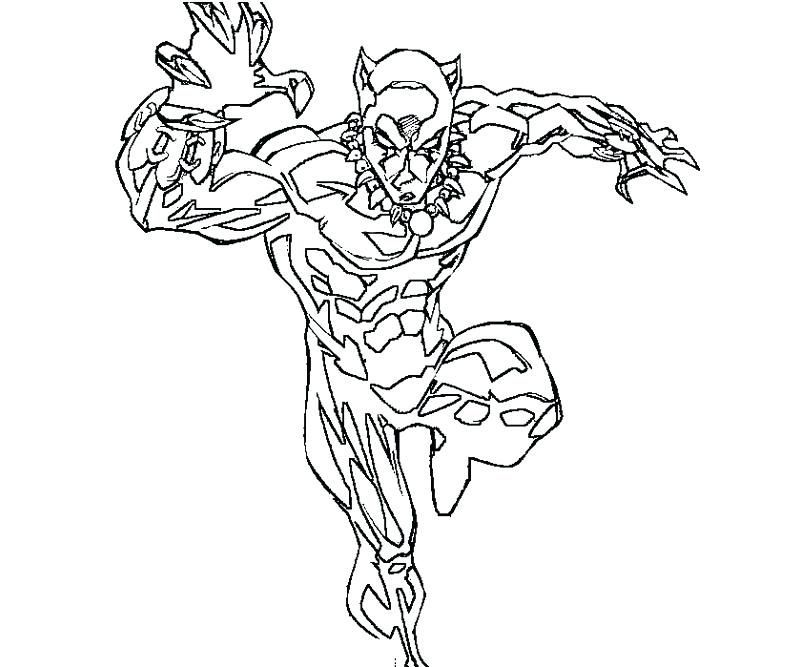Black Panther Colouring Page