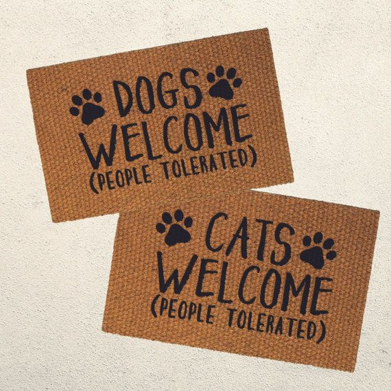 Dog Themed Outdoor Rugs: Dogs Welcome (People Tolerated) Doormat